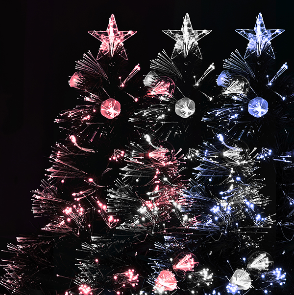 Fibre optic Christmas trees