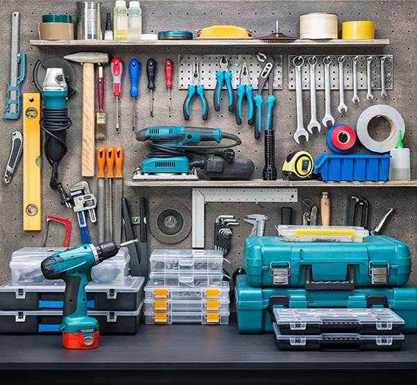 Tidy tool shed
