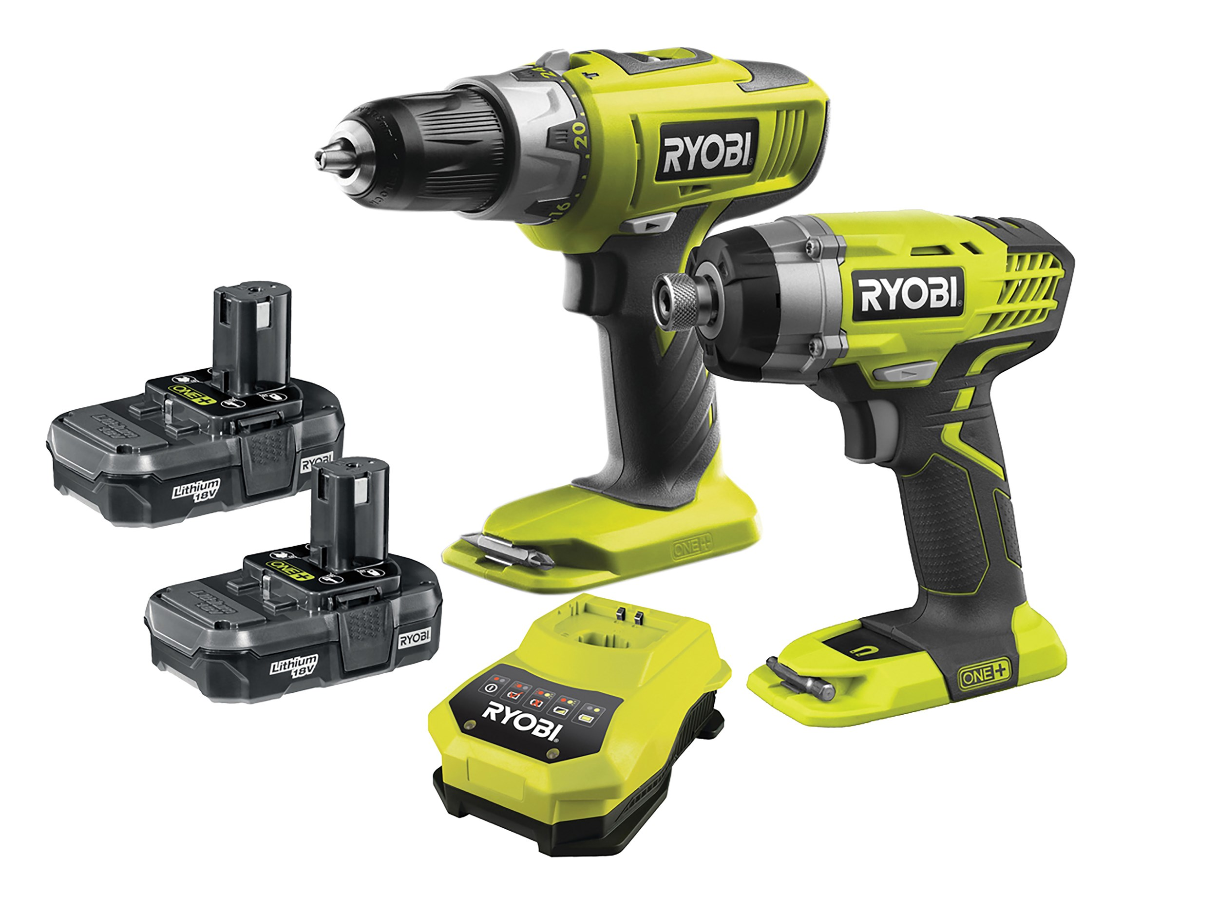 Ryobi One+ Combi Drill & Impact Driver Twin Pack - 18V