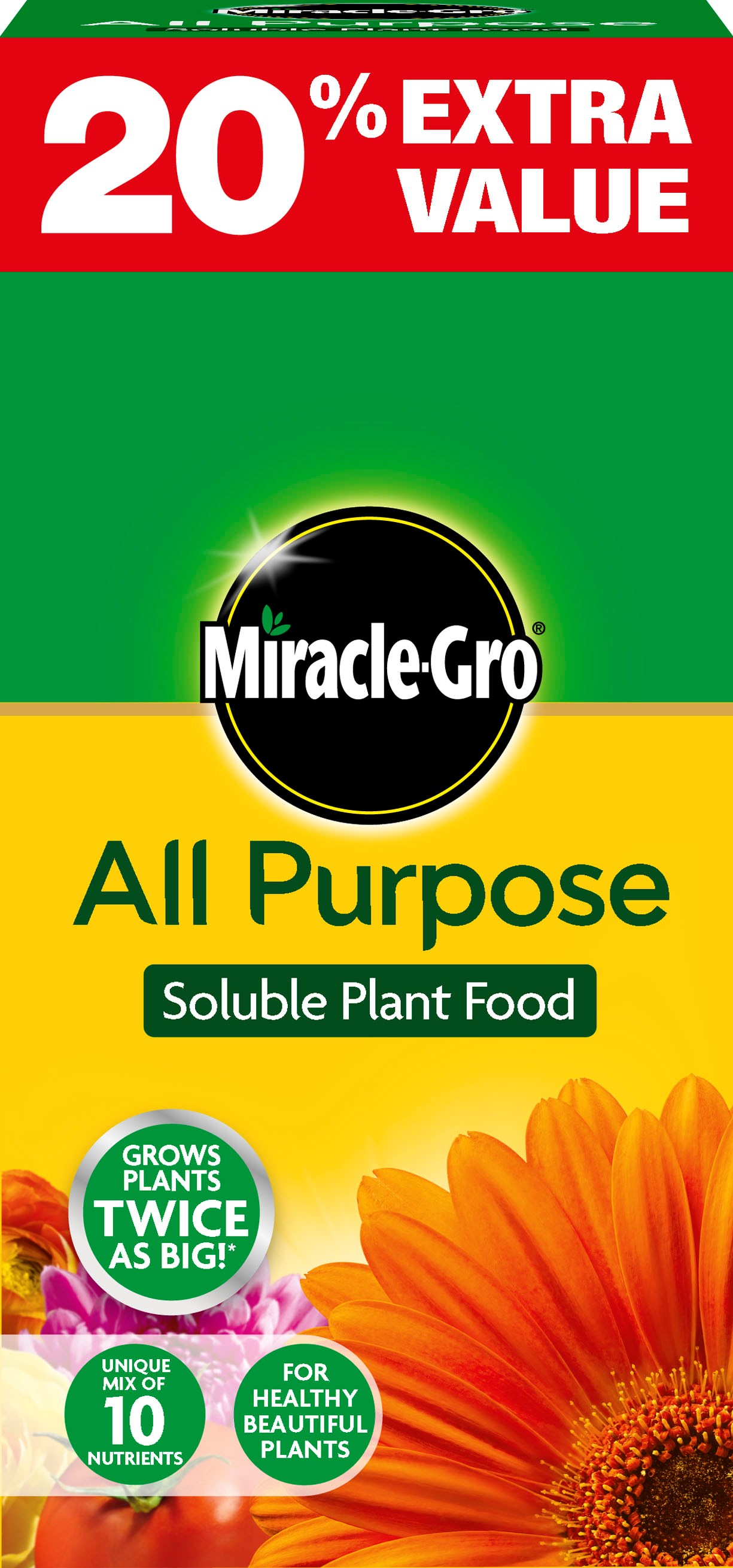Miracle Gro All Purpose Plant Food 1kg 20 Extra Value