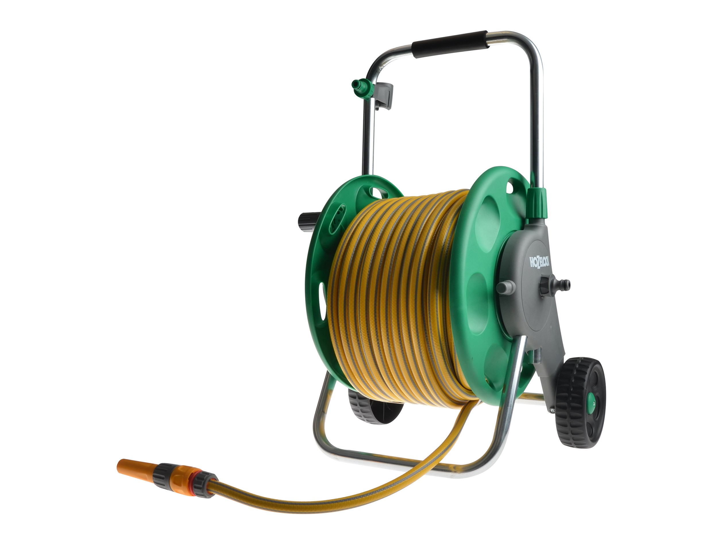 Hose Spray Nozzle >> Hozelock 2435 Assembled Hose Reel with 50 Metre Hose ...