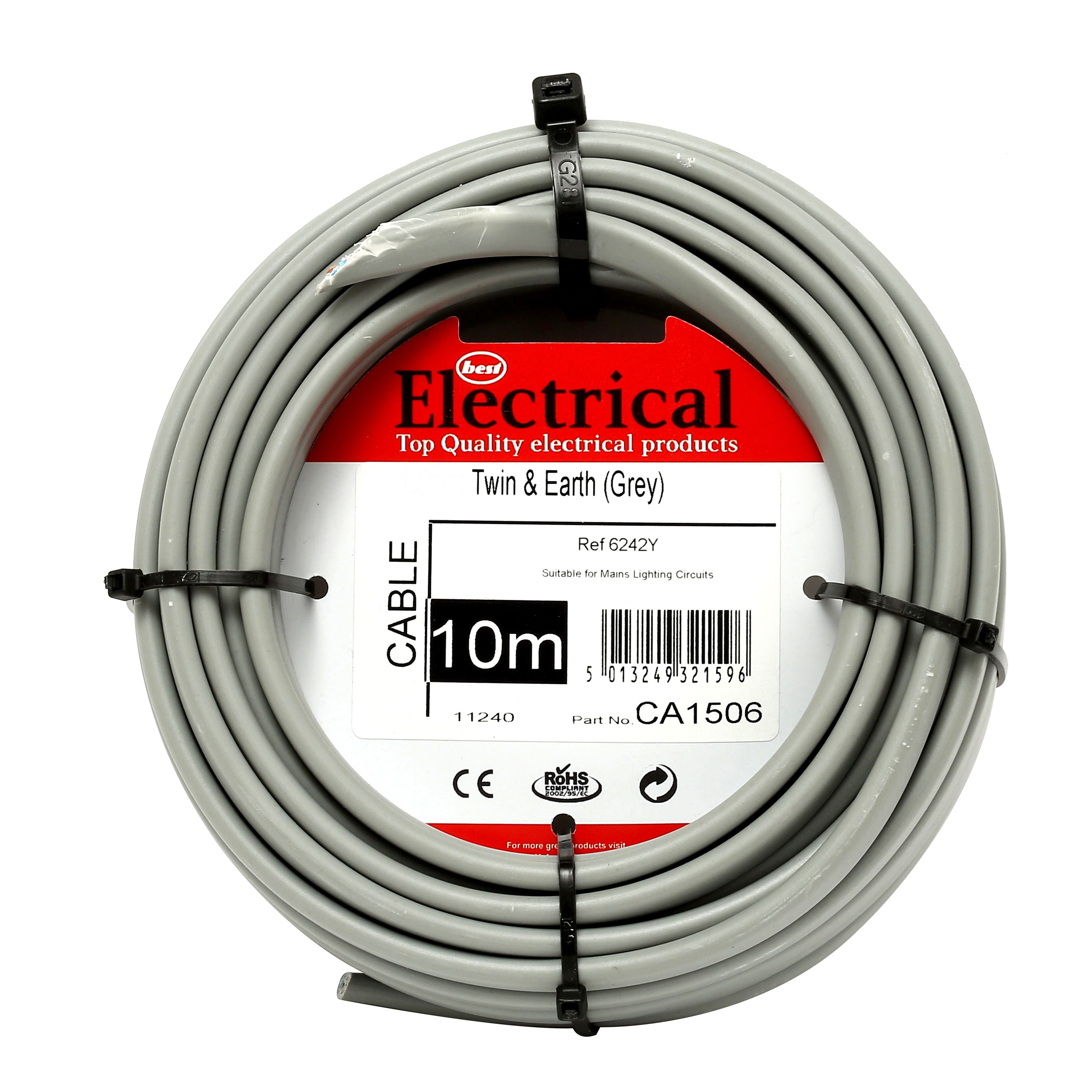 Best Electrical Twin Earth Grey Wiring Cable 25mm Diy Shed Wire