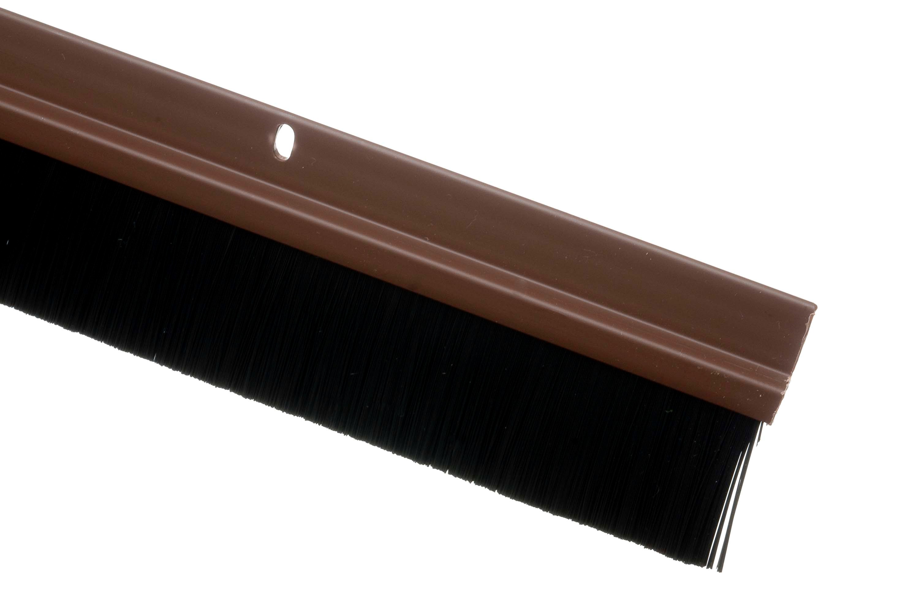 Trojan Door Bottom Brush Brown Draught Exclusion
