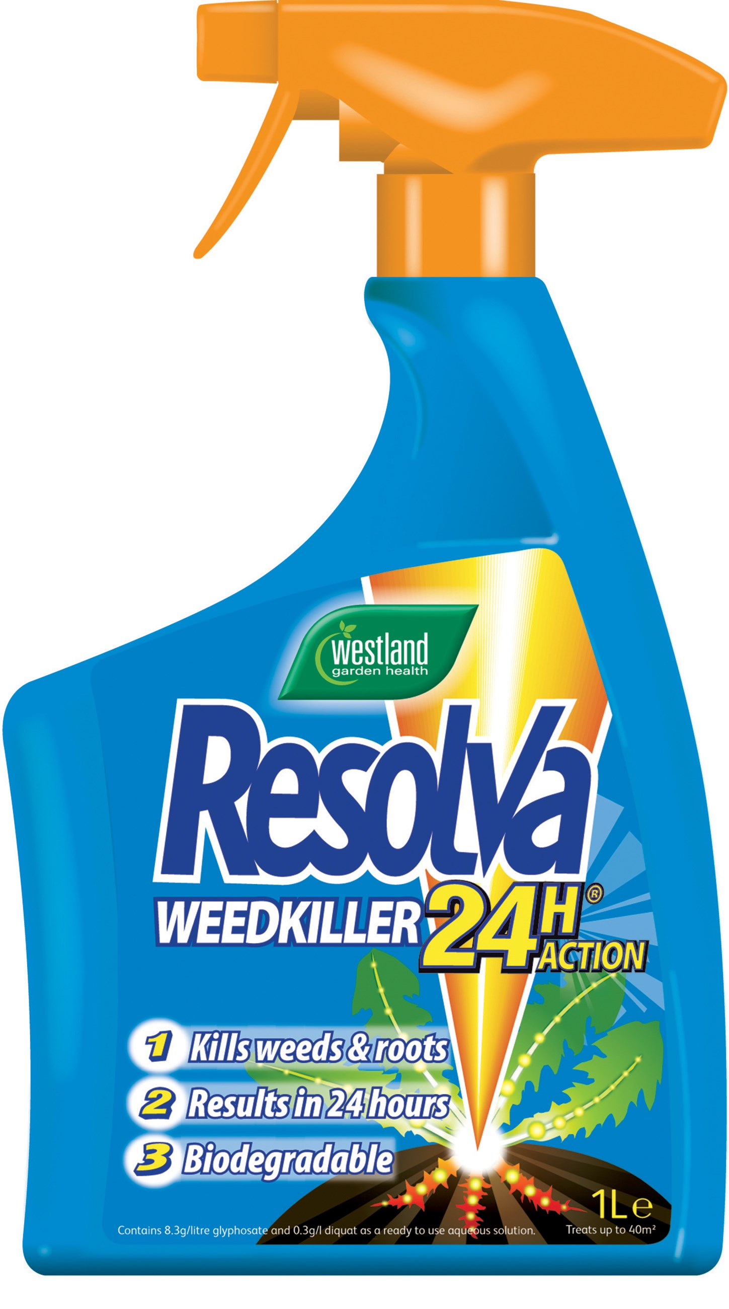 Westland 24 Hour Ready To Use Weed Killer 1 Litre Spray
