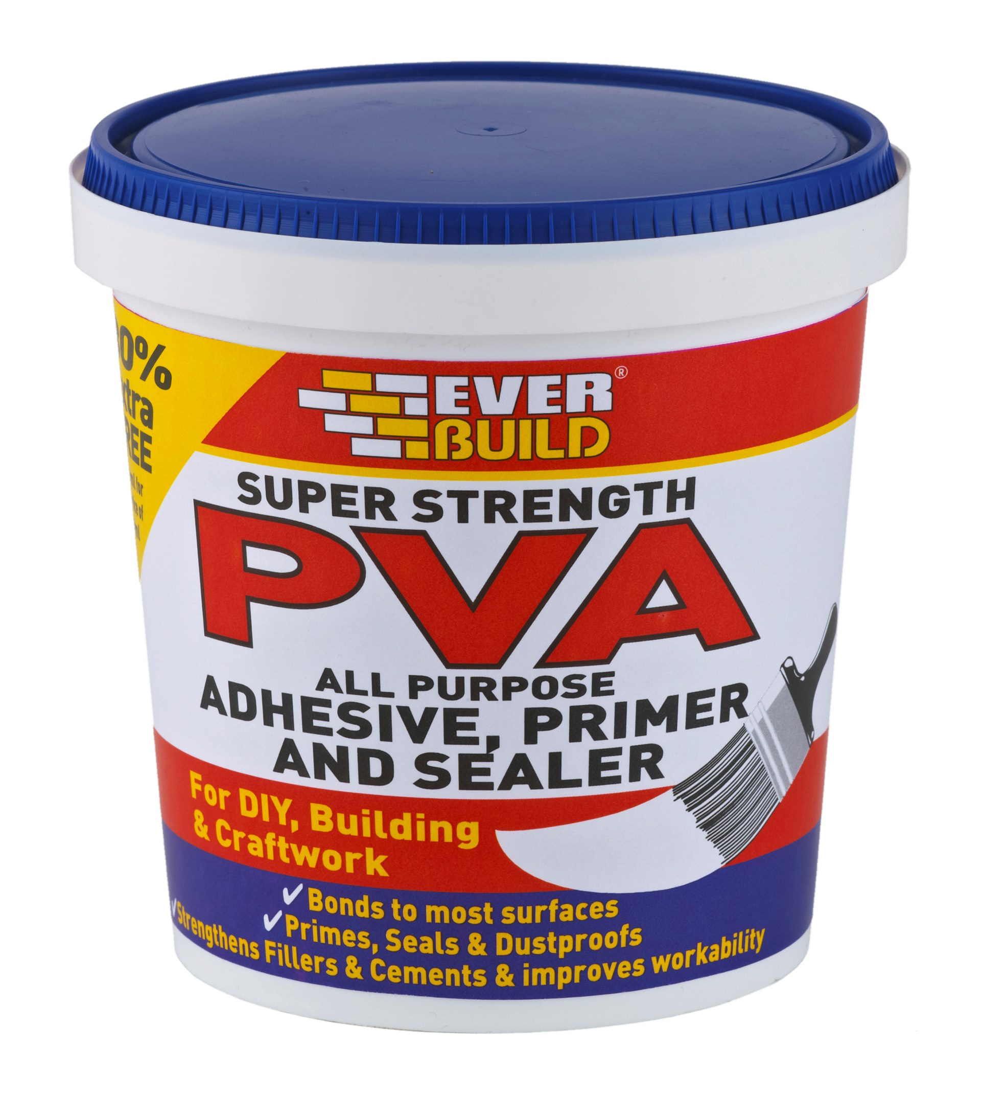 Everbuild Super Strength Pva Adhesive Amp Sealer 600ml