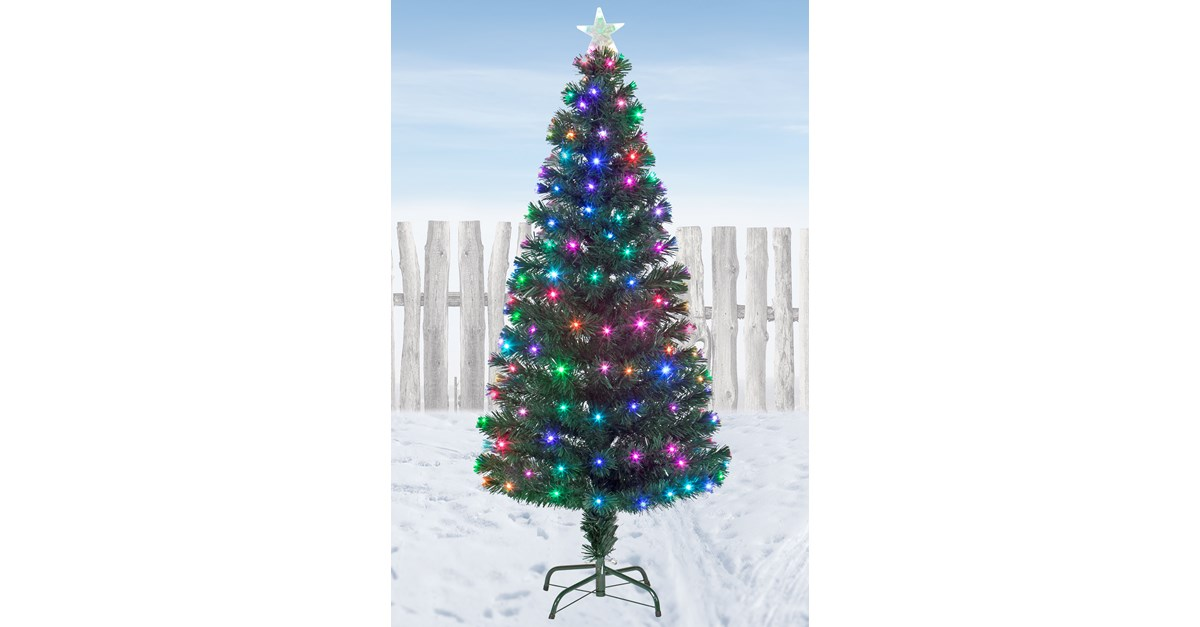 Snowtime Snowbright Colour-Changing LED Christmas Tree ...
