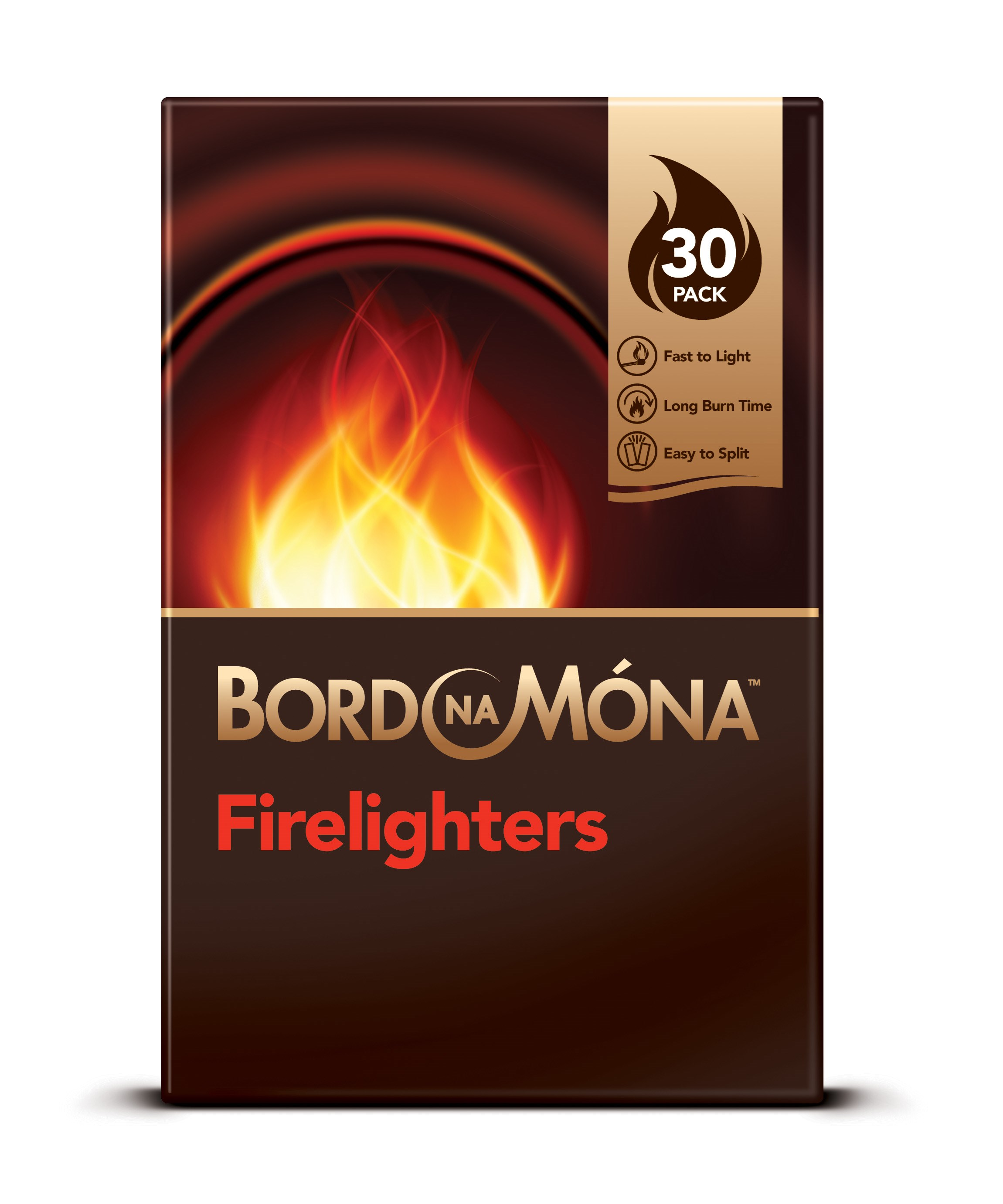 Bord Na M 243 Na Firelighters 30 Pack Briquettes