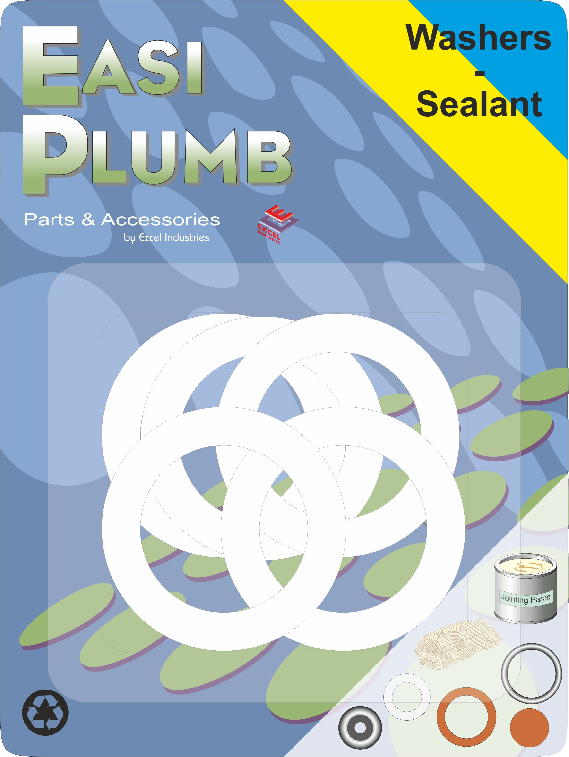 Easi Plumb PVC Washers - 5 Pack   Nuts, Bolts & Washers   Topline.ie