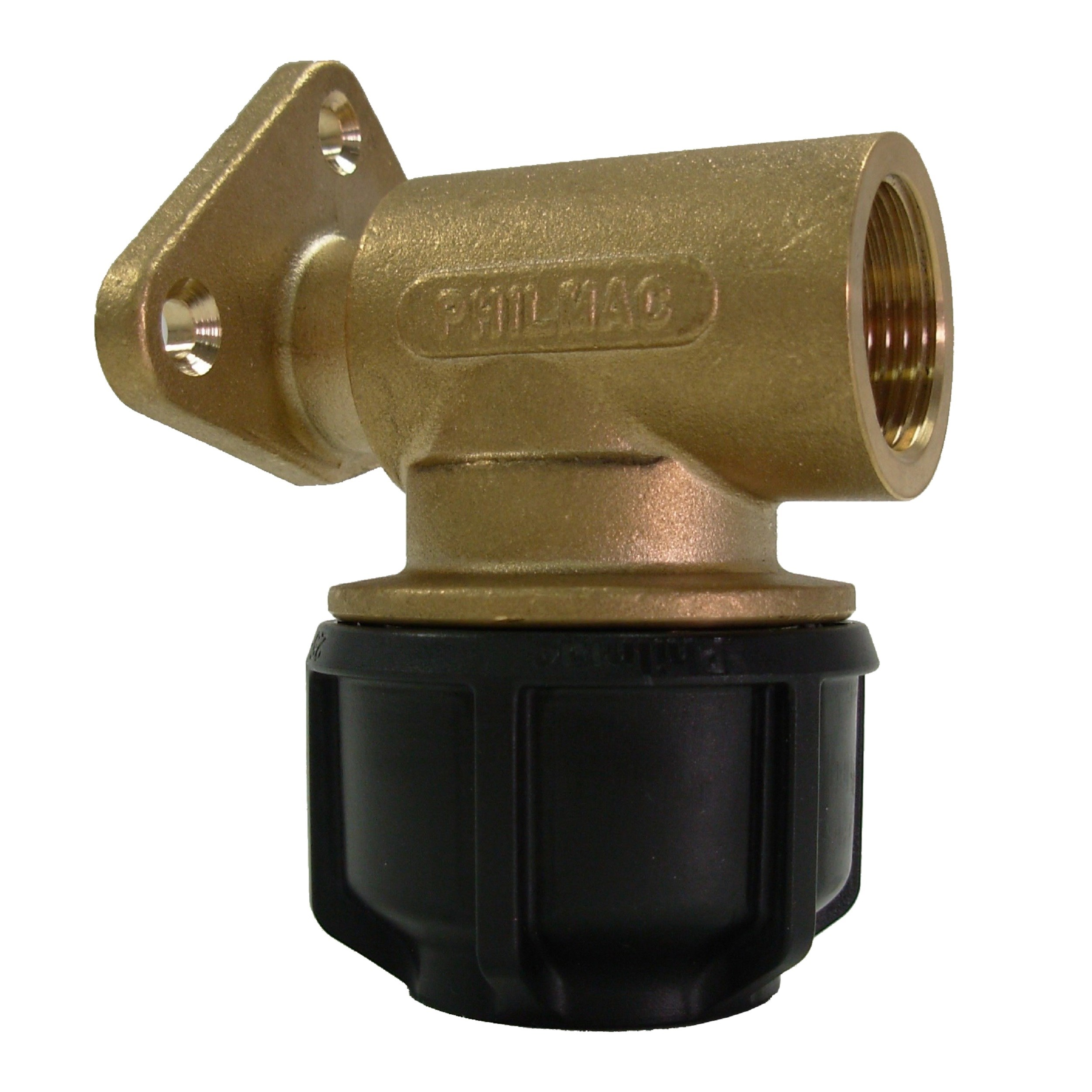 Philmac Metric Imperial Wall Plate Elbow Pipe Fitting
