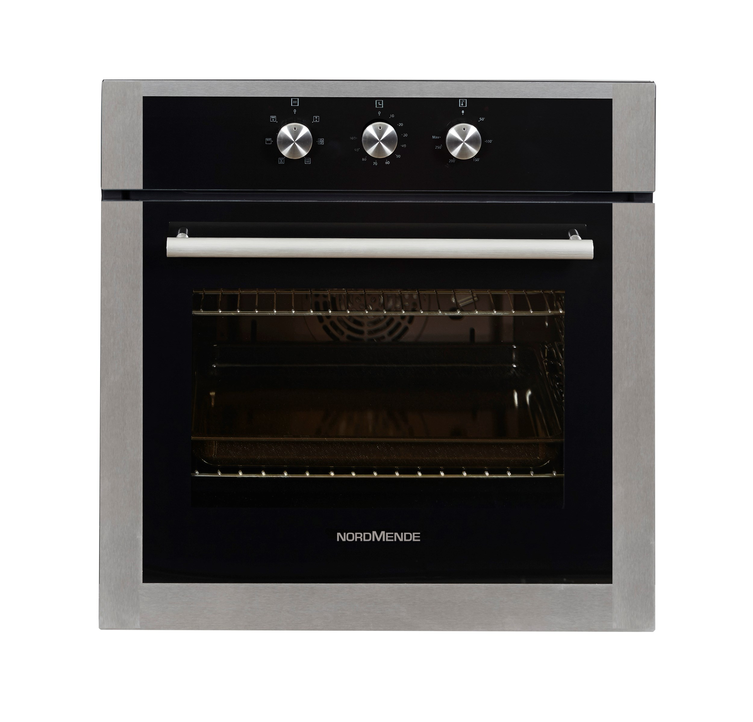 Nordmende Black Amp Stainless Steel Single Fan Oven Amp Grill
