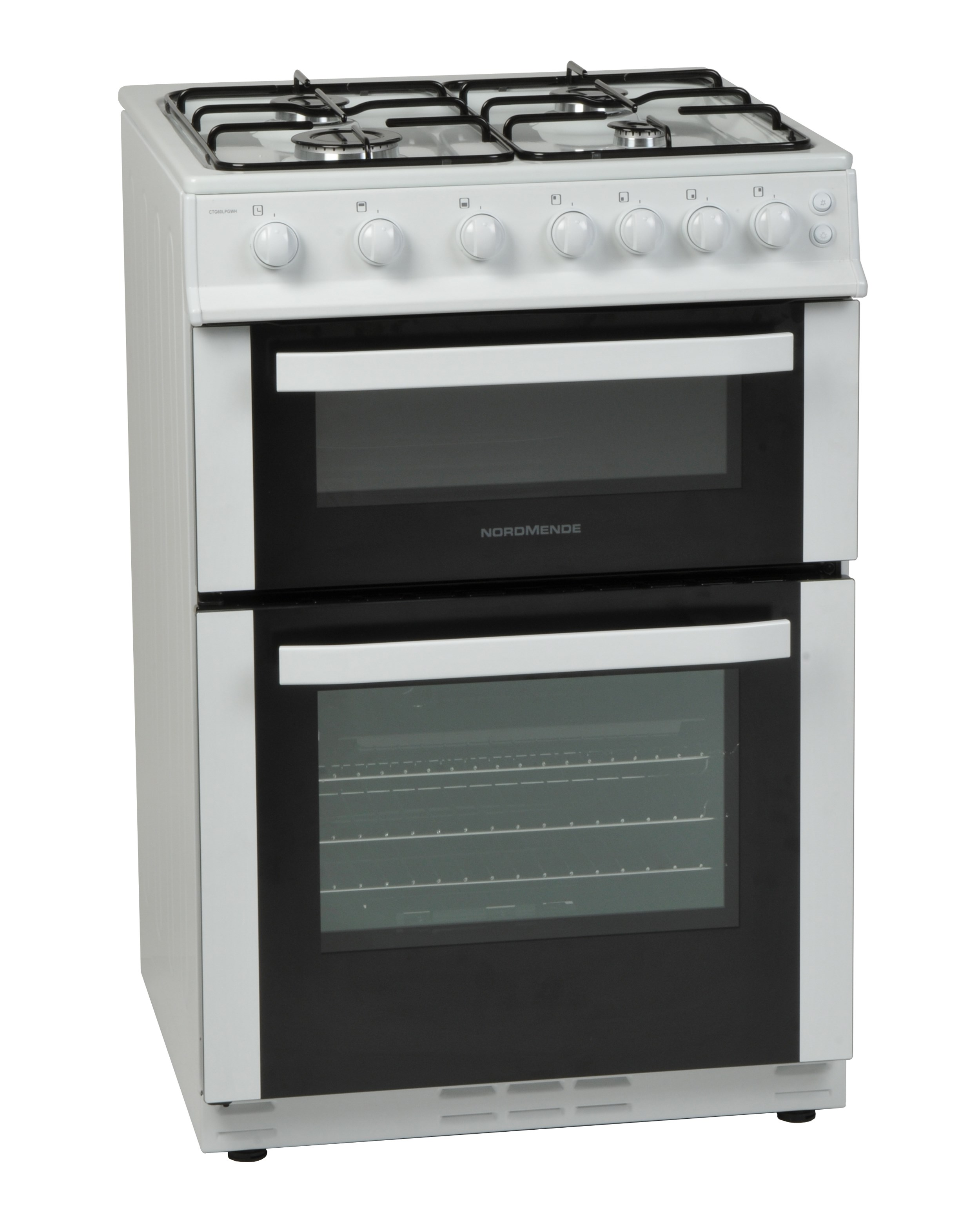 nordmende white freestanding gas cooker 60cm ctg60lpgwh. Black Bedroom Furniture Sets. Home Design Ideas