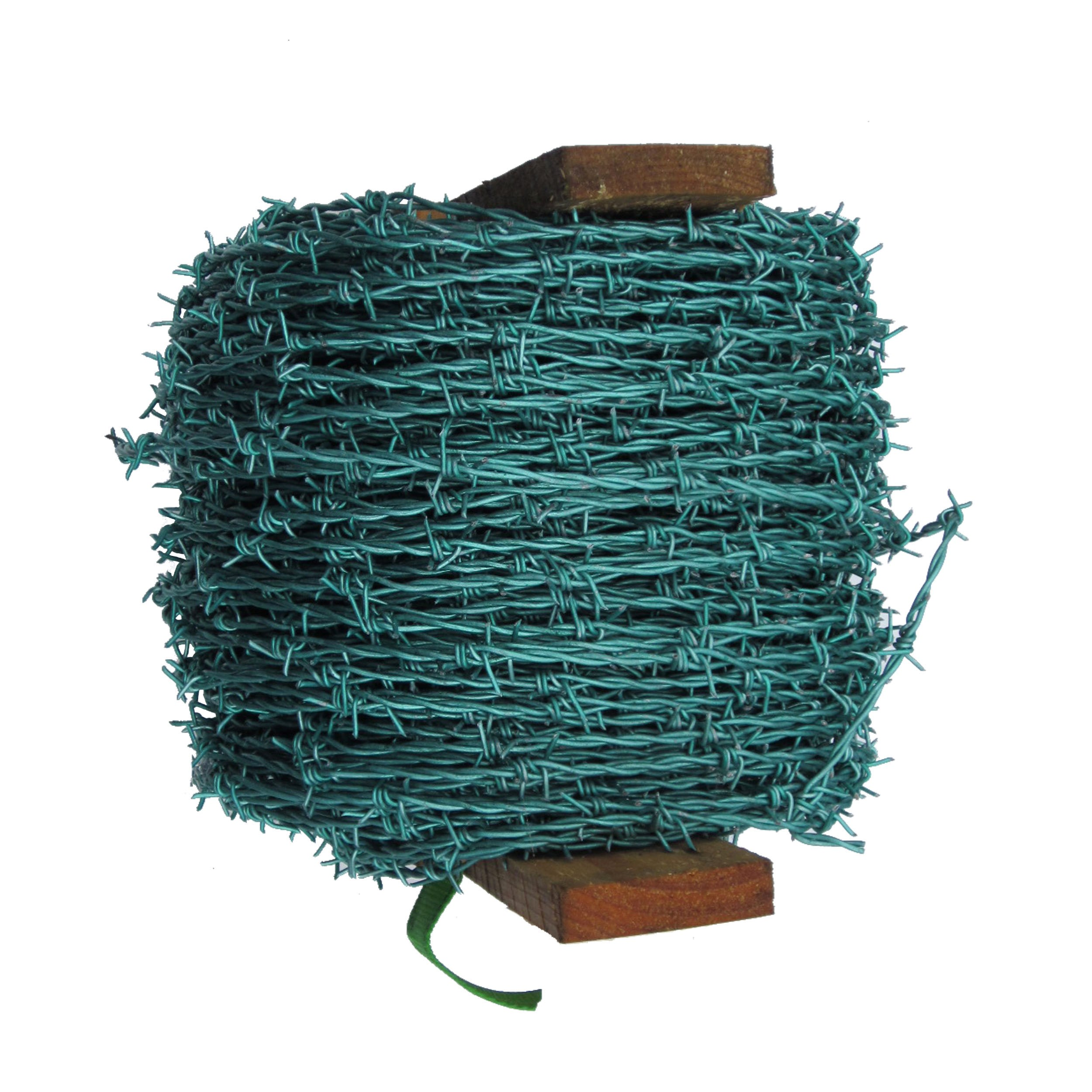 BAT Metalwork Green Galvanised Barbed Wire - 200m Roll   Wire ...