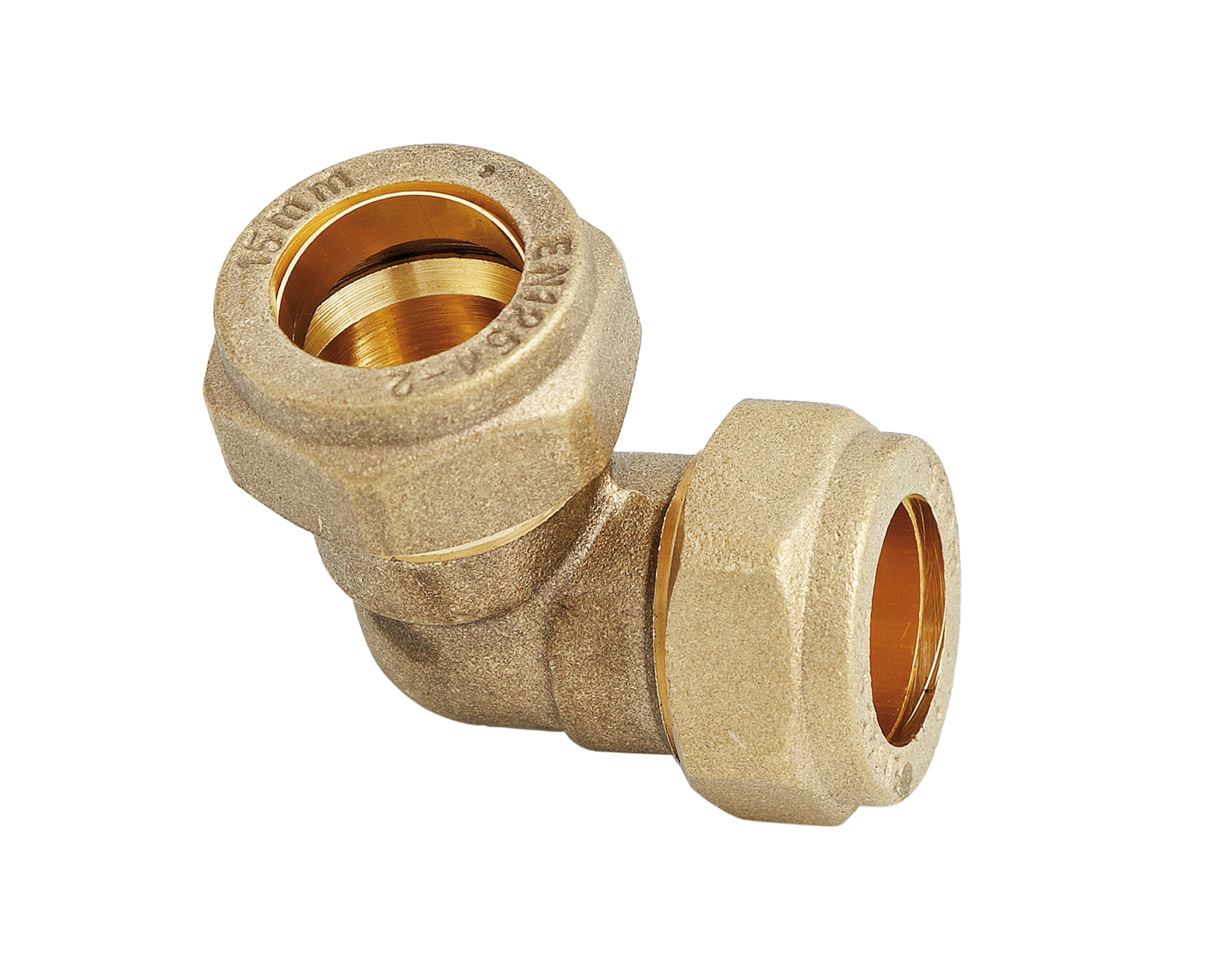 Uel compression elbow brass pipe fitting