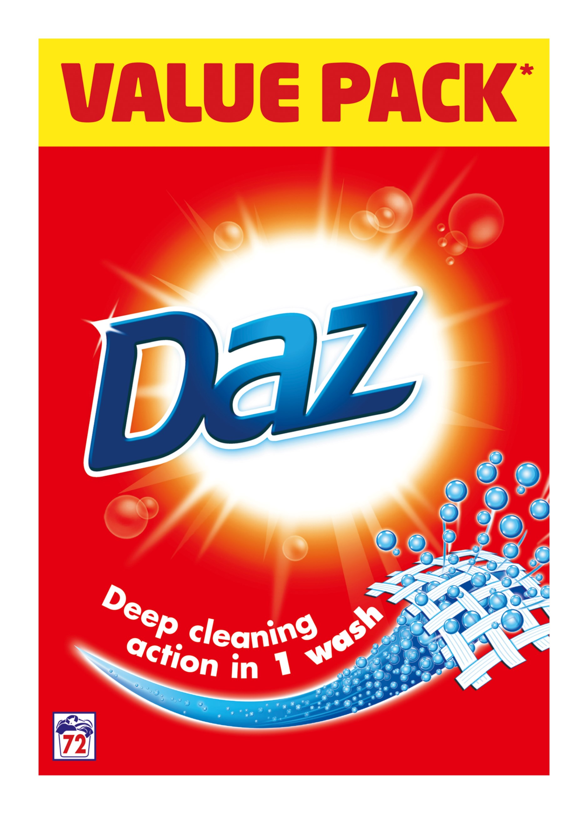 Daz Professional Washing Powder 72 Washes Laundry