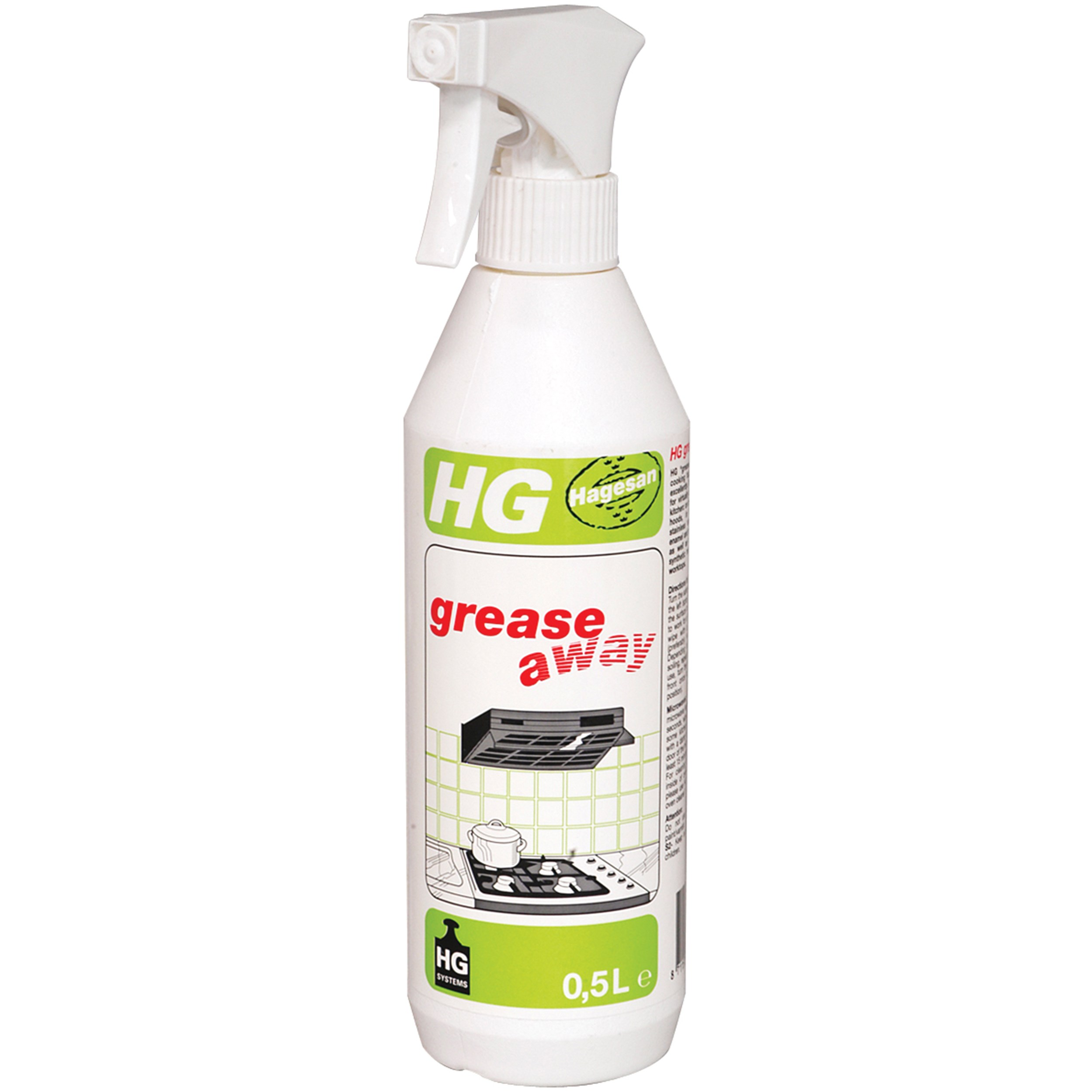 Hg Ceramic Hob Cleaner 500ml: HG Grease Away Cleaning Spray - 500ml