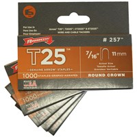 Arrow  T25 Round Staples - 5,000 Pack