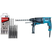 Makita  240 Volt SDS Plus Rotary Hammer c/w Makita 5pc Standard SDS + Drill Bit Set