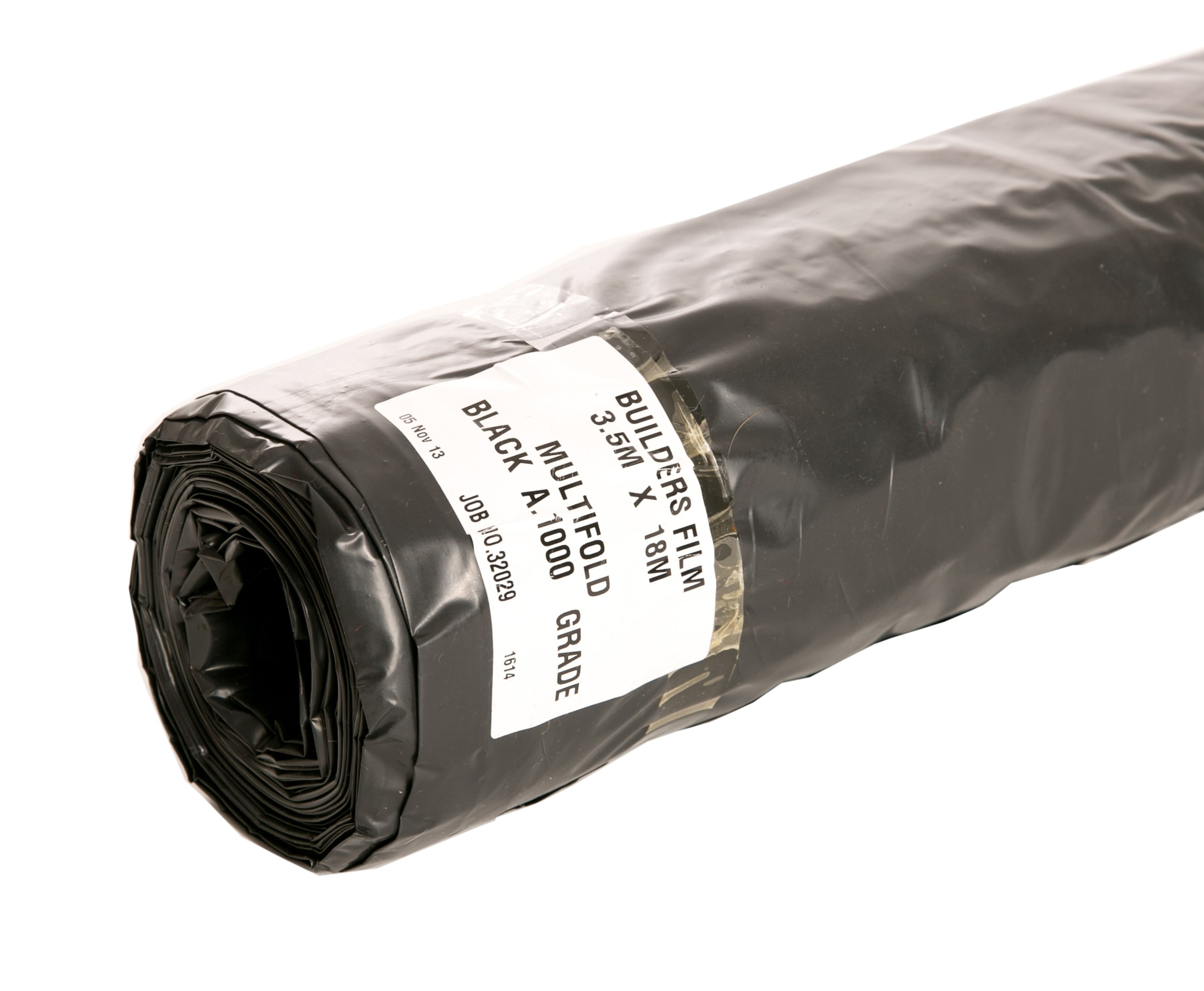 Capital Valley Plastics  Polythene Black Builders Film - Grade A 1000 Gauge