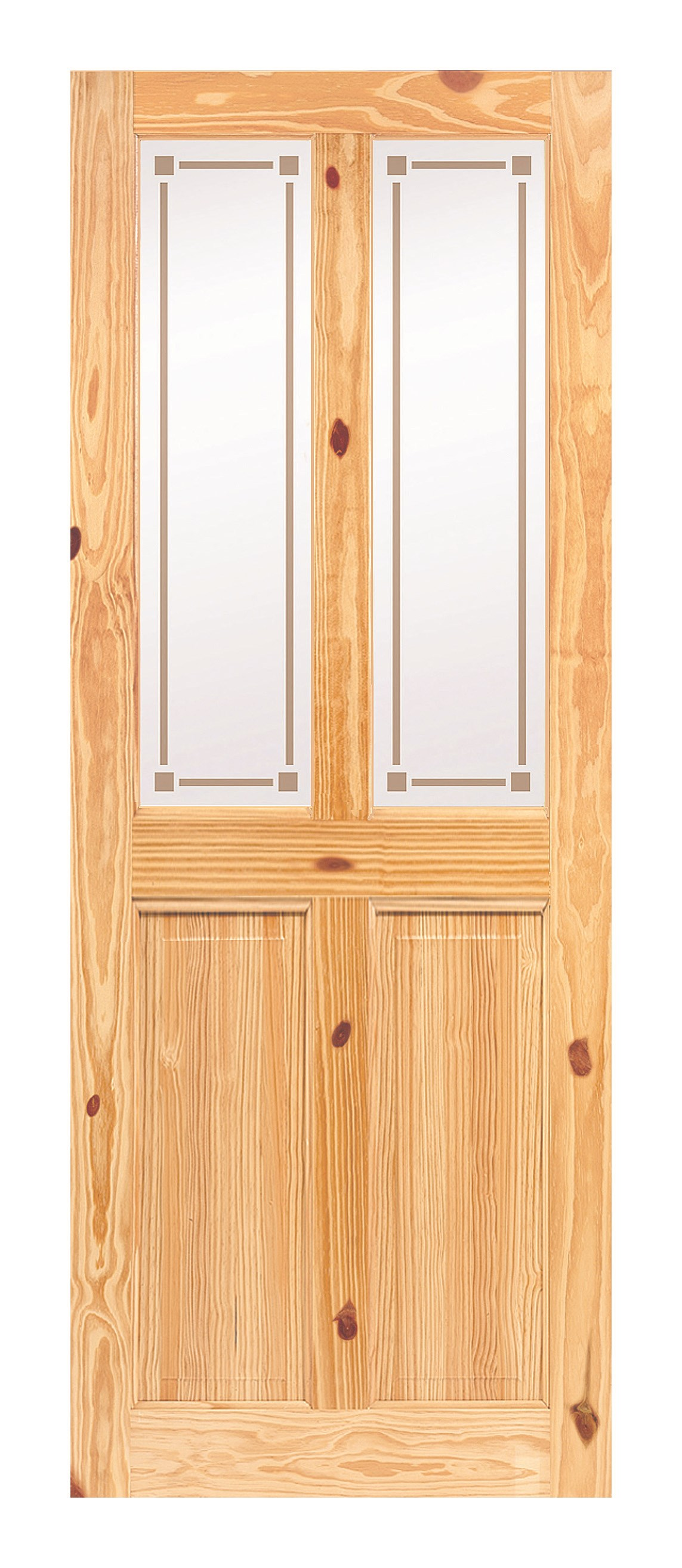 Doras Rio Knotty Pine Frosted Glass Door 44mm Pine