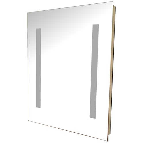 Sycamore Illuminated Mirror with Shaver Socket - 39 x 50cm ...