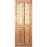 Deanta  NM2G Door with Flora Glass - Diamond Pattern