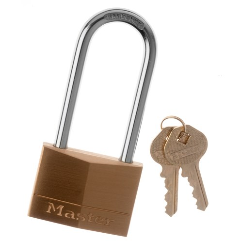 Master Lock  Brass L Shackle - 50mm