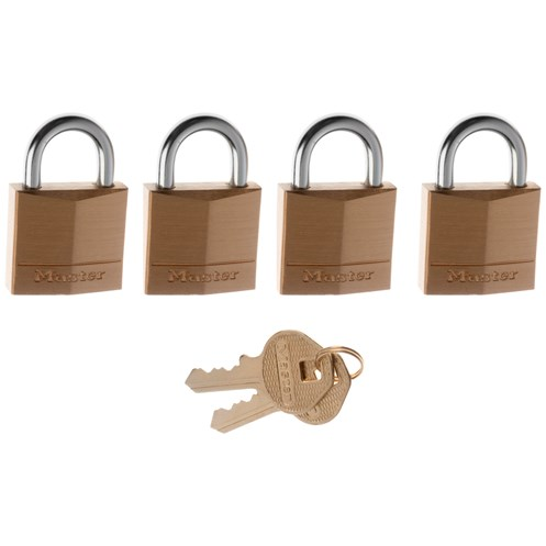 Master Lock  Brass Padlock - 4 x 30mm