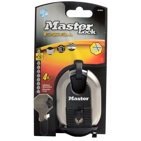 Master Lock Excell Stainless Padlock - 60mm