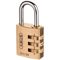 Abus  165 Series Brass Combination Padlock - 30mm