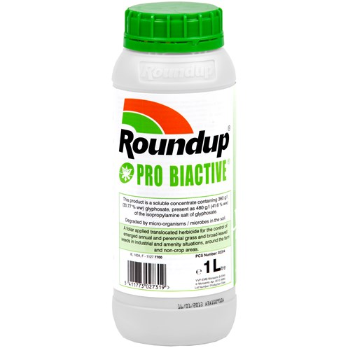 Round Up  Pro Biactive Weed Killer - 1 Litre