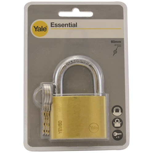 Yale  Brass Padlock - 60mm