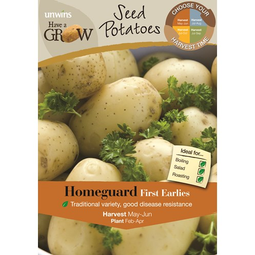 Unwins  Home Guard First Early Potato Seeds