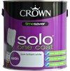 Crown Solo One Coat Satin Brilliant White Paint - 2.5 Litre