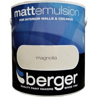 Berger  Matt Emulsion Magnolia Paint - 2.5 Litre