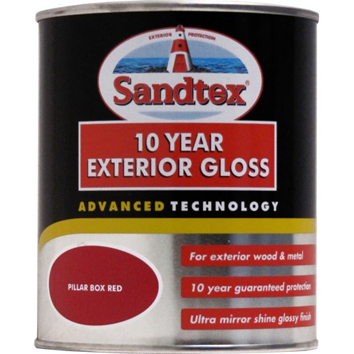 Sandtex 10 Year Exterior Gloss Colours Paint - 750ml | Gloss ... on zinsser exterior paint, rust-oleum exterior paint, fired earth exterior paint, dulux exterior paint, gloss exterior paint, crown exterior paint, weathershield exterior paint, glidden exterior paint, satin exterior paint,