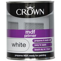 Crown  MDF Primer Pure Brilliant White Paint - 750ml