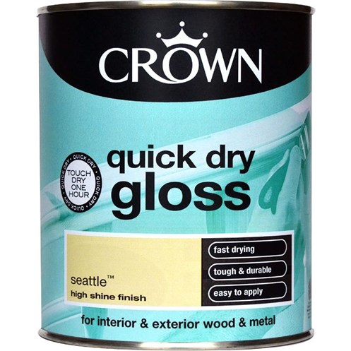 Crown  Quick Dry Gloss Colours Paint - 750ml