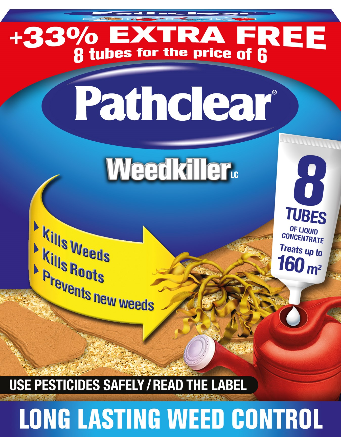 Scotts Pathclear Weedkiller Tubes - 6 Pack +33% Free