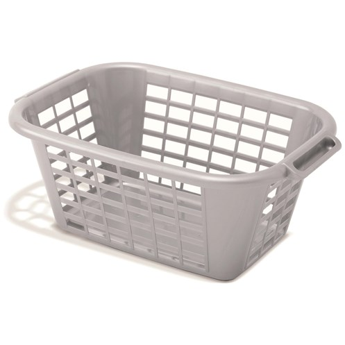 Addis  Rectangular Laundry Basket Metallic - 40 Litre