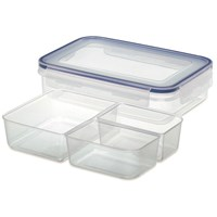 Addis Clip & Close Rectangular Food Storage Box with Insert- 1.1 Litre