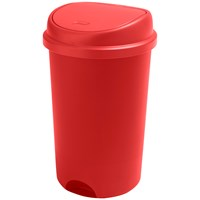 Addis  Press Top Kitchen Bin Roasted Red - 50 Litre