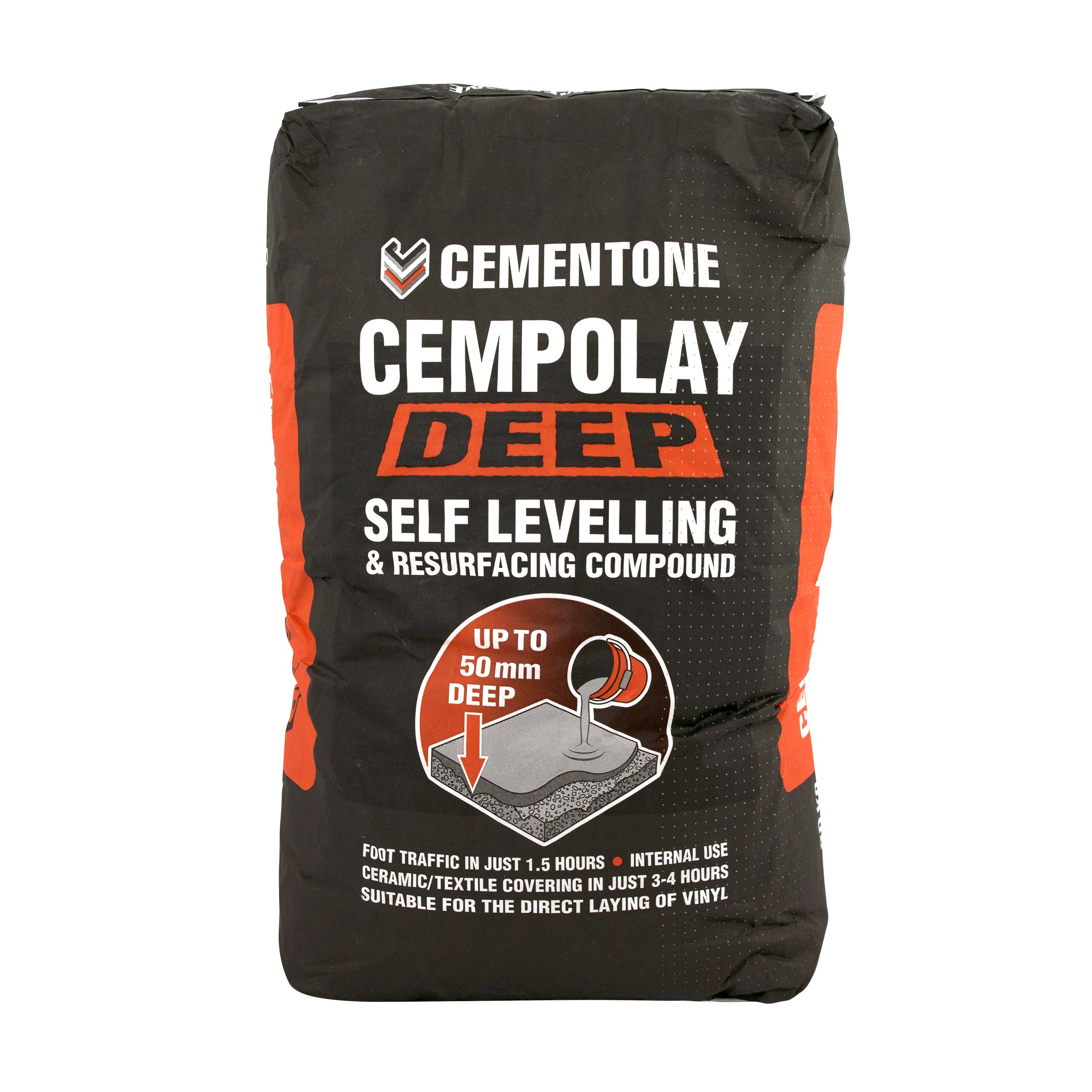 Cementone  Cempolay Deep Self Levelling & Resurfacing Compound - 20kg