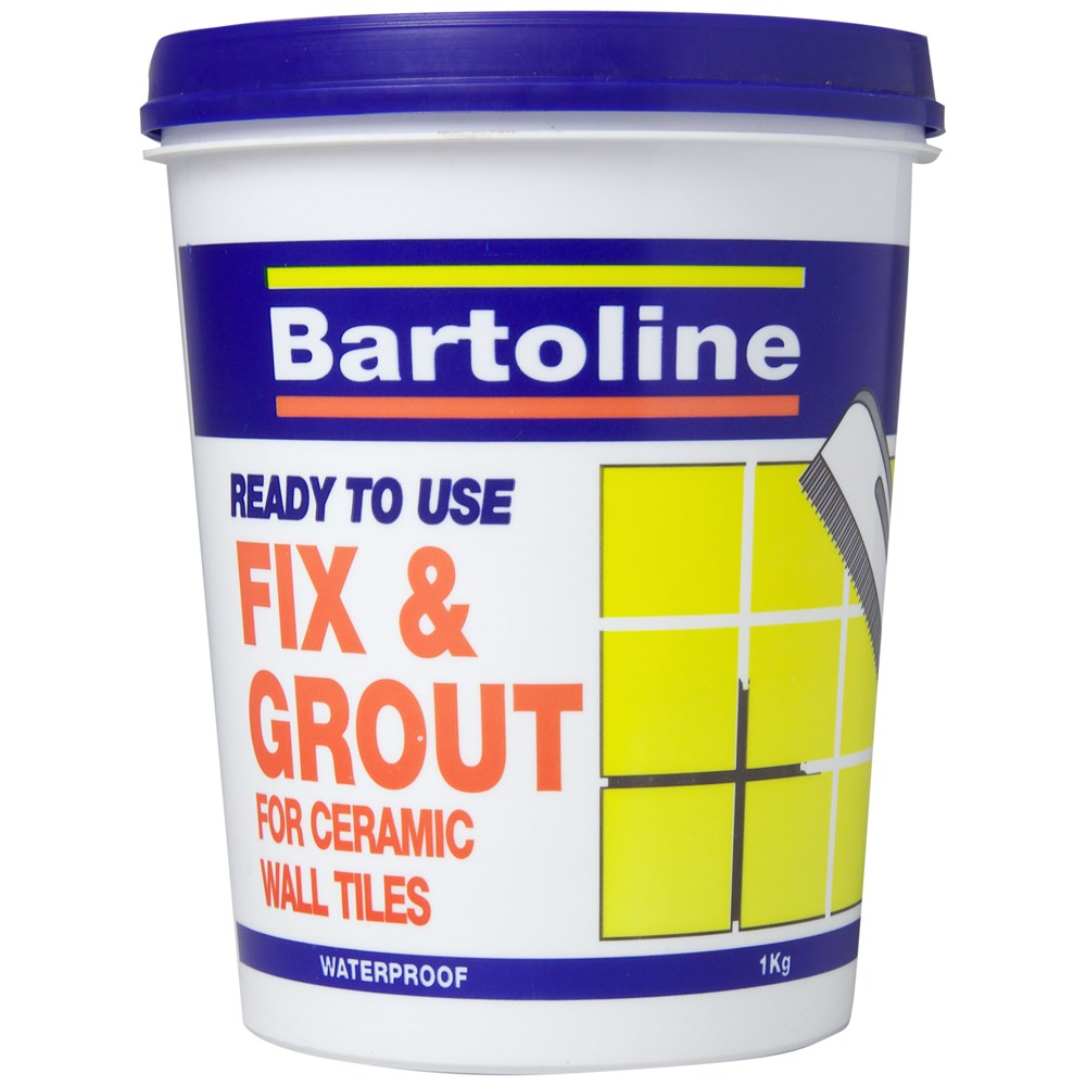 Bathroom Tile Adhesive And Grout: Bartoline Fix & Grout Tile Adhesive - 1kg