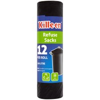 Killeen  100 Litre Anti-Bacterial Refuse Sack - 12 Pack