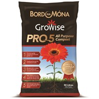 Bord na Móna Growise PRO 5 All Purpose Compost - 50 Litre