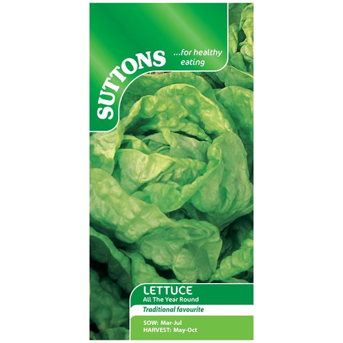 Suttons  Lettuce All The Year Round Vegetable Seeds
