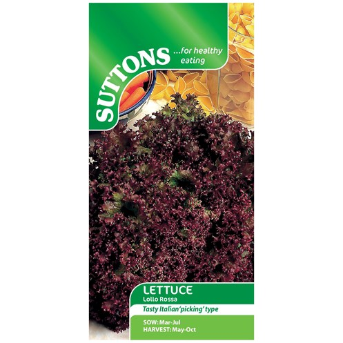 Suttons  Lettuce Lollo Rossa Vegetable Seeds