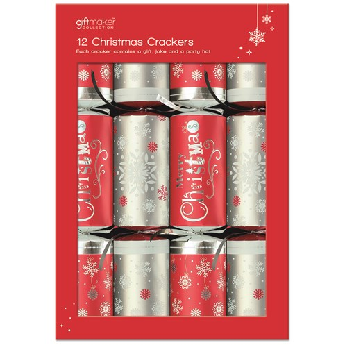Anker Christmas Crackers Red & Silver  12 Pack
