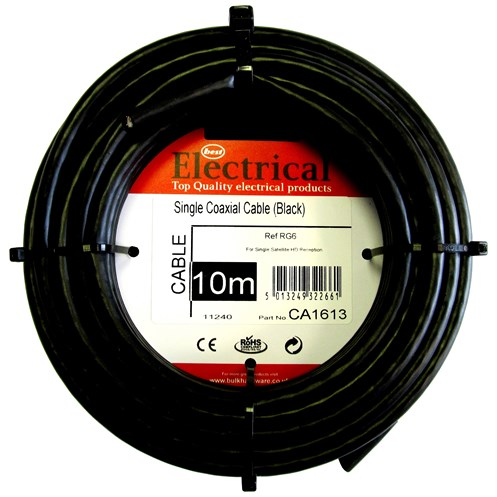 Best Electrical RG6 Single Coaxial Cable 750hm | Multimedia | Topline.ie