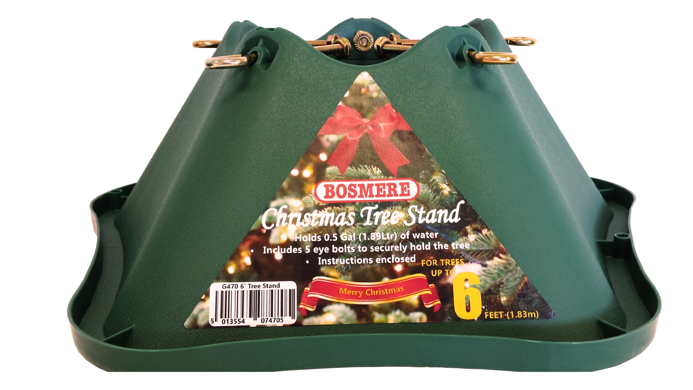 Exceptionnel Bosmere Green Christmas Tree Stand   6ft